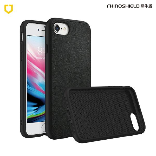 【RhinoShield犀牛盾】iPhone78Solidsuit防摔背蓋手機殼皮革黑【三井3C】