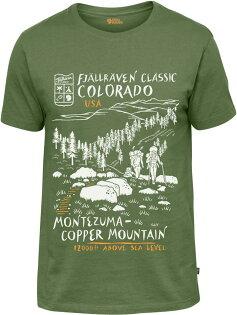 Fjallraven小狐狸有-機棉短袖T恤棉T旅遊UST-Shirt男81945618美國健行蕨綠