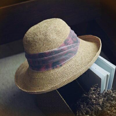 草帽手工編織漁夫帽-夏季時尚休閒百搭女遮陽帽73si81【獨家進口】【米蘭精品】