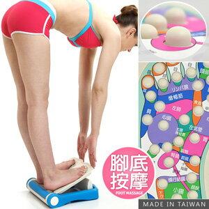台灣製造 足部按摩拉筋板(腳底按摩器按摩墊.多角度易筋板足筋板.平衡板美腿機.多功能健身板.運動健身器材.推薦哪裡買ptt) P260-725A