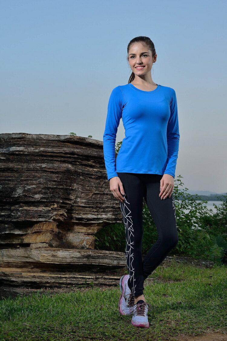 TH3 peacock blue 運動健身上衣 高溫瑜伽服長袖上裝女