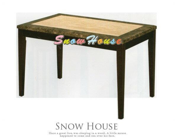╭☆雪之屋居家生活館☆╯AA742-06咖網洞石面胡桃餐桌(326)(DIY自組)飯桌三款可選