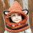 毛帽 萌卡通可愛狐狸圍脖針織毛線帽【YJI-F416】 BOBI  10/13 0