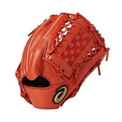 ASICS 亞瑟士 軟式棒球手套 NEOREVIVE(內外野手兼用) BGR7MB-600橘 左手用 [陽光樂活=]