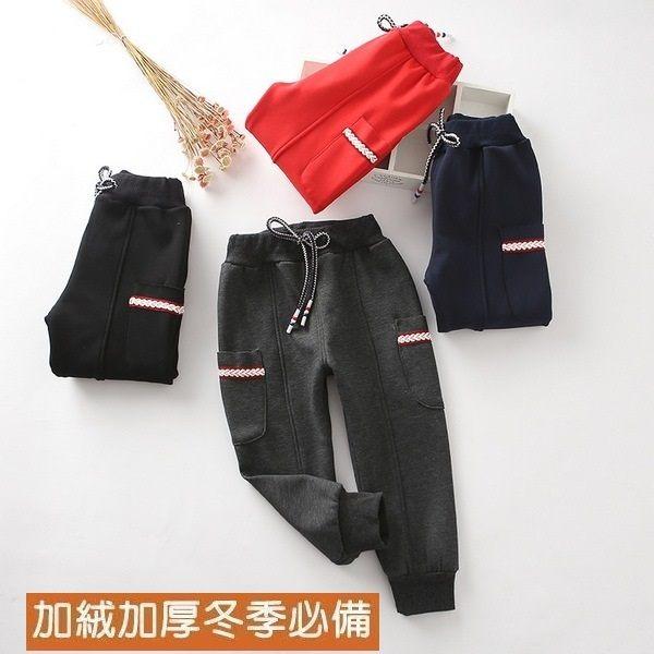 3色中大童運動休閒棉褲 抽繩兒童保暖長褲 XR170260 好娃娃