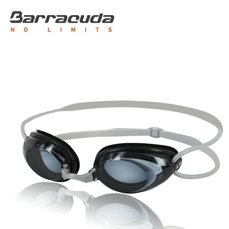 美國巴洛酷達Barracuda成人近視泳鏡-#2195---銀色頭帶組
