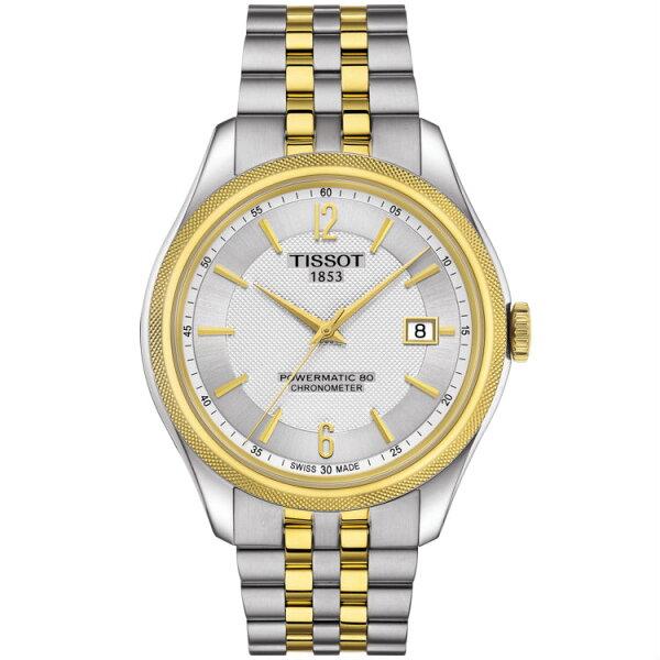 TISSOT天梭錶T1084082203700矽游絲天文台80小時動力儲存時尚機械腕錶白面41mm
