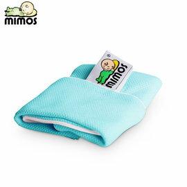 【淘氣寶寶】MIMOS 3D自然頭型嬰兒枕 S【枕套-湖水綠】(0-10個月適用)【專業小兒科醫師與工程師聯手打造】