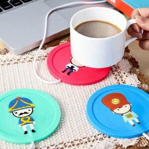 美麗大街【BF069E16E830】卡通創意USB矽膠保溫杯墊加熱杯墊暖杯器保溫碟