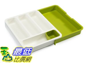 [106美國直購] Joseph Joseph 85041 餐具收納盒(綠/藍) 伸縮 刀叉 湯匙 廚房抽屜 DrawerStore Expandable