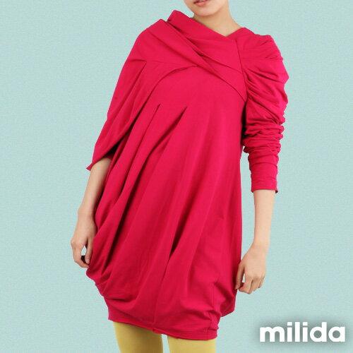 【Milida,全店七折免運】-秋冬單品-洋裝款-立體肩袖造型剪裁 1