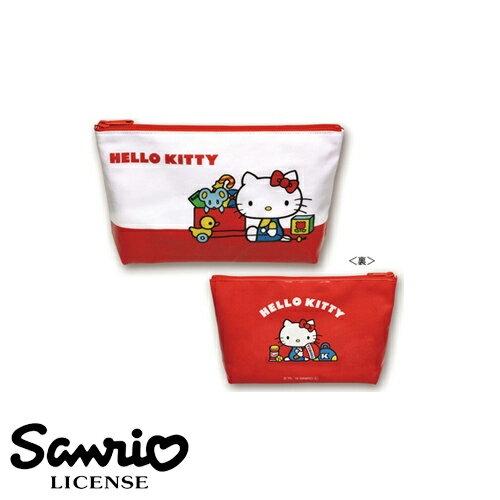 【日本正版】凱蒂貓 防潑水 化妝包 鉛筆盒 筆袋 Hello Kitty 日本製 三麗鷗 人物系列 - 553264