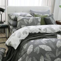 鋪棉被套 雙人-純棉兩用被套/舞葉知秋[鴻宇]台灣製2091