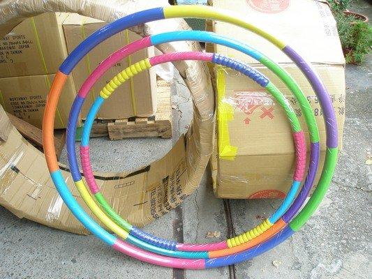 呼拉圈 1斤平面橡膠泡棉內加重鐵管呼拉圈 安全呼啦圈 直徑87cm~台灣製/一個入{促299}