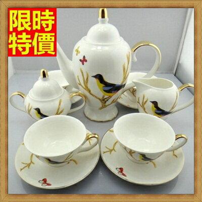 下午茶茶具 含茶壺+咖啡杯組合-4人優美浮圖歐式高檔骨瓷茶具69g42【獨家進口】【米蘭精品】