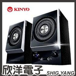 ※ 欣洋電子 ※ KINYO 全木質立體擴大音箱 (KY-1007) / 二件式電腦喇叭