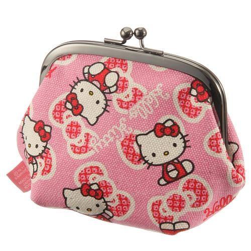 日本直送 五色帆布堂 XHello Kitty零錢小包