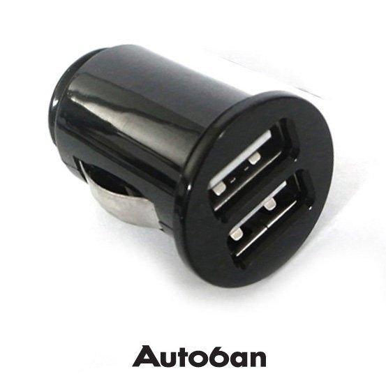 權世界@汽車用品 Autoban WINE 點煙器 雙USB轉換車用手機充電器(1000mA) AW-Z32