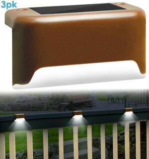Solar Deck Lights - Two Set of Three 0