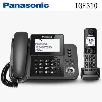 【子母雙機】國際牌Panasonic KX-TGF310TW(TGF310) DECT數位無線電話◆送10合1萬用充電線+環保筷