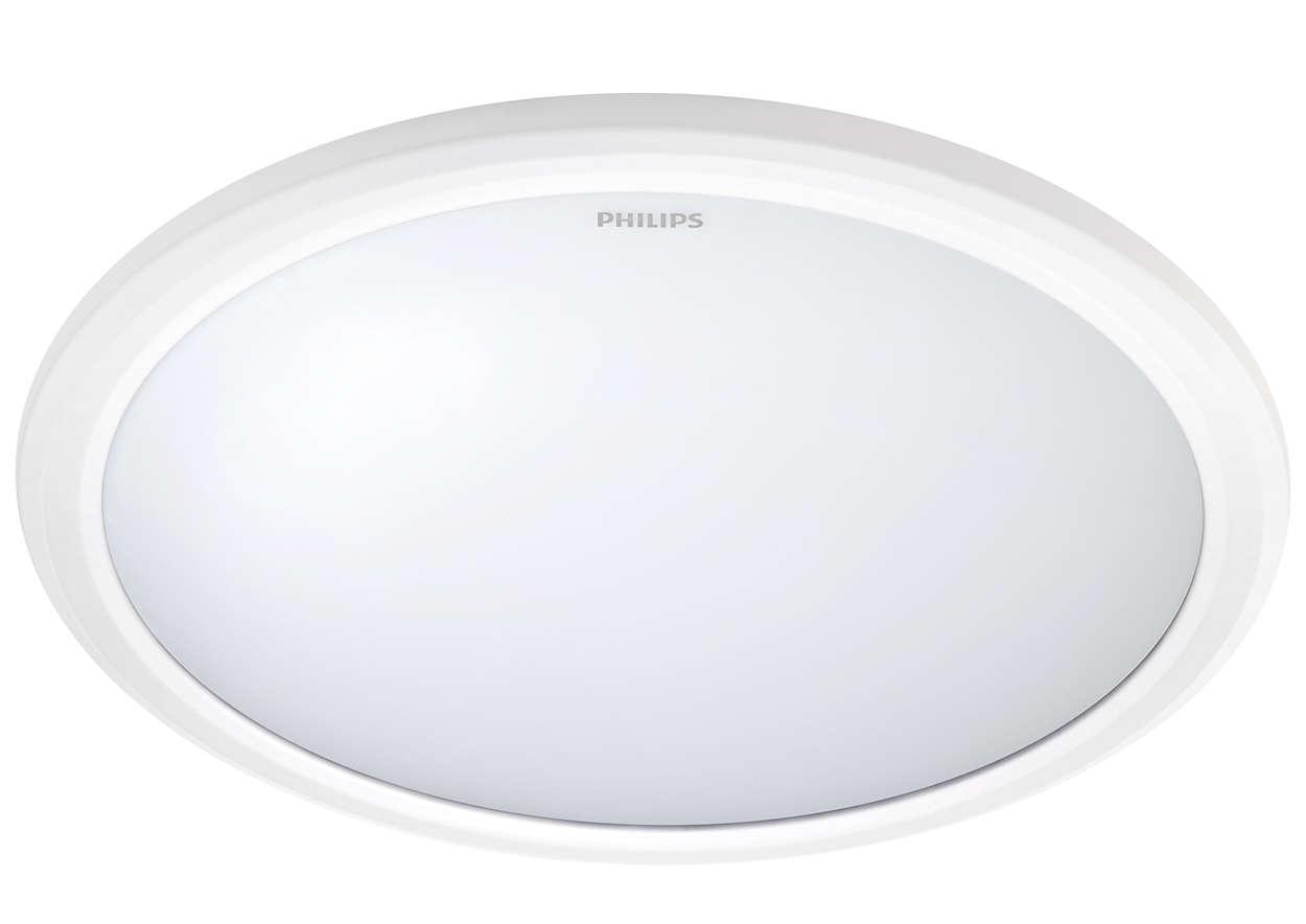 飛利浦★恒樂 防水 LED 12W 吸頂燈 IP65 全電壓 白光 黃光★永光照明PH-31817%