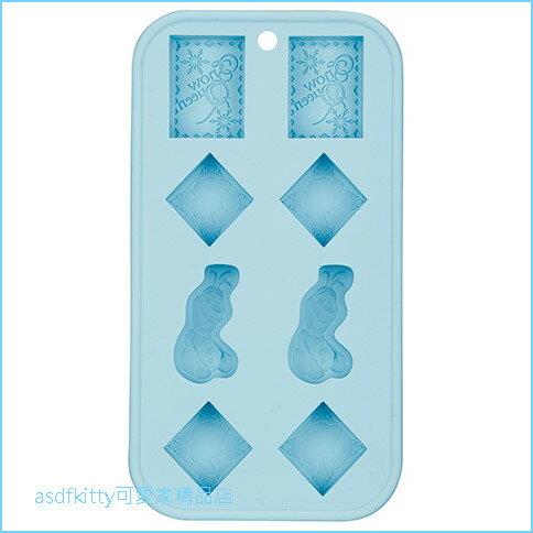 asdfkitty可愛家☆冰雪奇緣雪寶製冰盒矽膠模型-做冰塊.巧克力.果凍.布丁.軟糖.鬆餅-日本正版商品