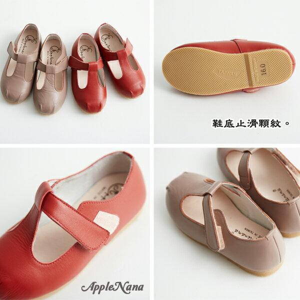 AppleNana。MIT手工親子鞋。跟媽媽一樣T字瑪莉珍全真皮娃娃鞋【QBC71441080】蘋果奈奈 1