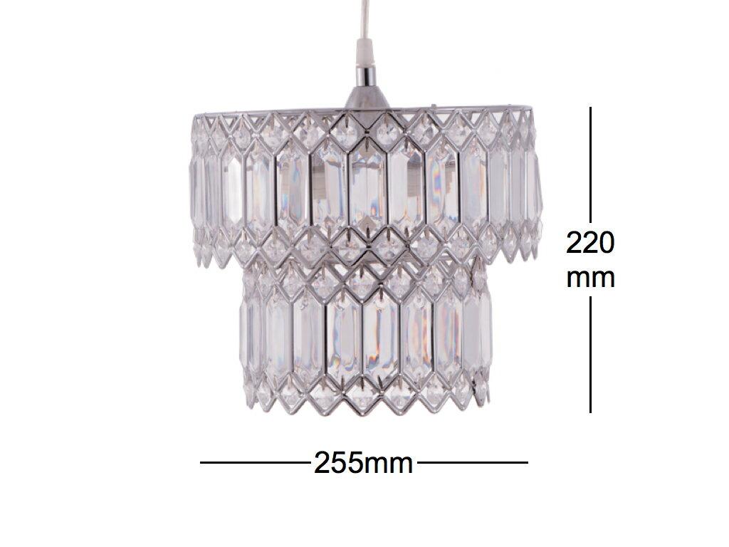 鍍鉻銀鐵花邊透明壓克立吊燈-BNL00056 6