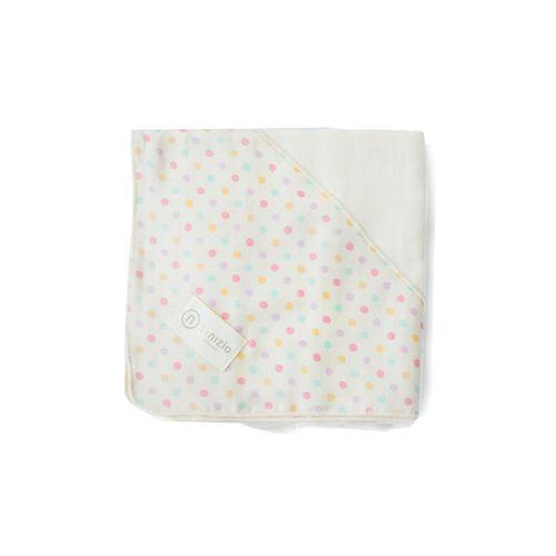 Nizio 跳跳糖嬰兒四層紗浴包巾-嬰兒白★愛兒麗婦幼用品★