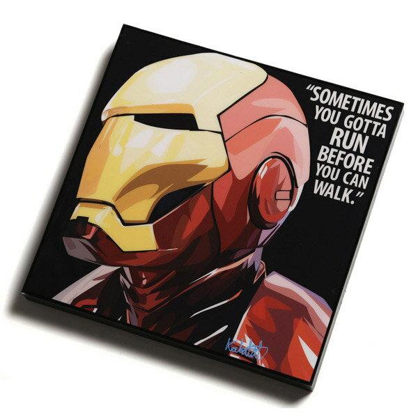 【EST】Famous Pop Art 普普風 掛畫 Iron Man 鋼鐵人 黑底 [FS-0001-XXX] F0923 0
