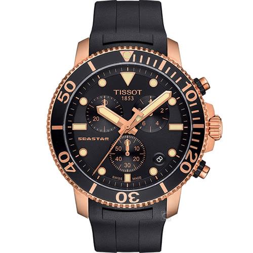 TISSOT 天梭 Seastar海星300米潛水錶(T1204173705100) - 限時優惠好康折扣