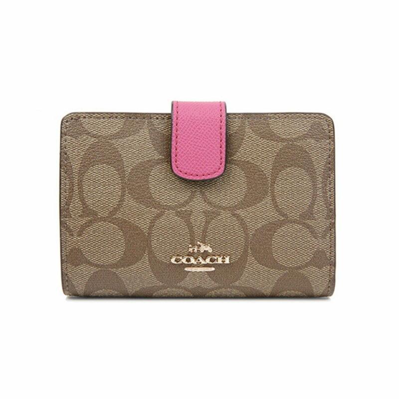 COACH F53562 經典錢包女式新款C紋短款錢包
