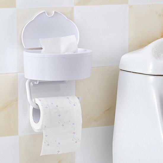 ♚MY COLOR♚兩用壁掛式紙巾盒 餐巾 濕紙巾 收納架 擦手巾 抽取 捲筒 紙架 衛浴 按壓【Q246】