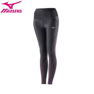 K2MJ7D0196(黑X粉紅)高支撐性及活動自如的BG5000II第二代女緊身長褲【美津濃MIZUNO】