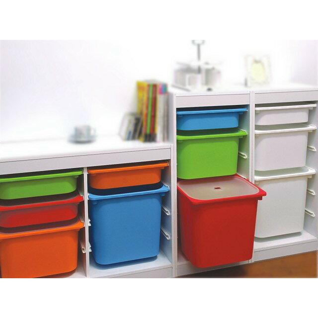 139百貨~田野鄉村~AW632 AW63-2 卡拉3號附蓋儲物盒(藍)*1入組 /整理箱