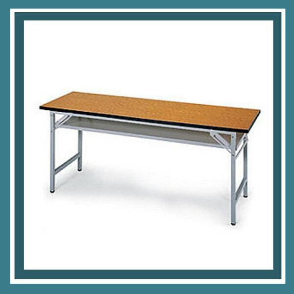 『商款熱銷款』【辦公家具】CPD-2060T木質折疊式會議桌、鐵板椅系列辦公桌書桌桌子