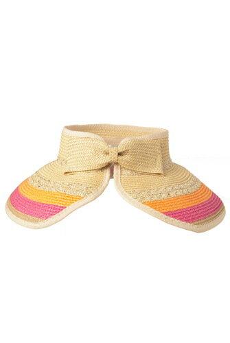 00ecc9477fc Luxury Lane  Luxury Lane Women s Tricolor Wide Brim Straw Sun Visor ...