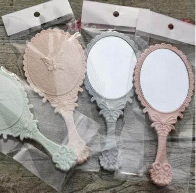 PS Mall 復古花紋手柄化妝鏡鏡子【J1303】 2