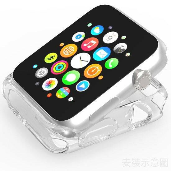 【智慧手錶透明套】Apple Watch 38mm/42mm Series 1/2/3 透明保護殼iWatch軟殼TPU