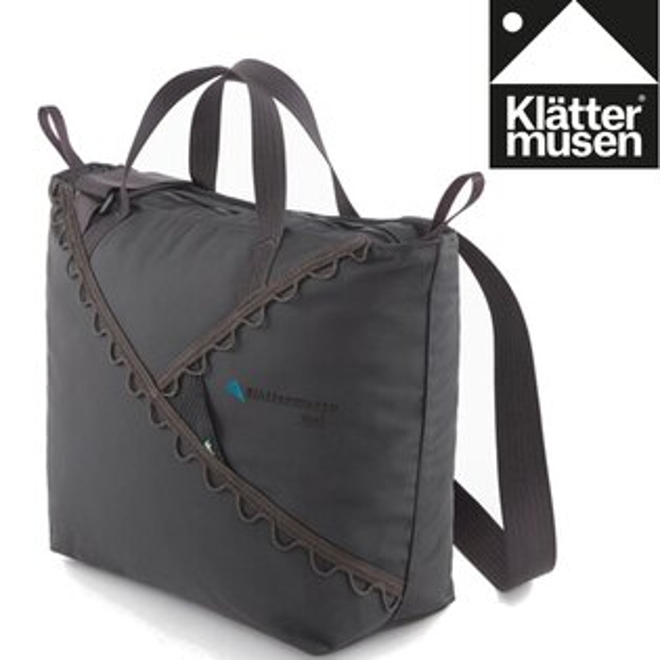 Klattermusen攀山鼠瑞典攀登鼠手提側背包手提袋購物袋托特包Bor13LKM40370U渡鴉黑R