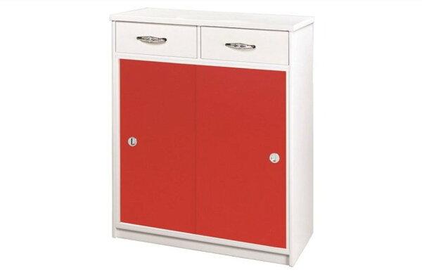 【石川家居】868-06(紅白色)鞋櫃(CT-313)#訂製預購款式#環保塑鋼P無毒防霉易清潔