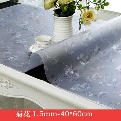 【1.5mm軟玻璃桌墊-40*60cm-2個組】PVC餐桌茶几桌布防水防燙防油免洗膠墊(可混搭)-7101001