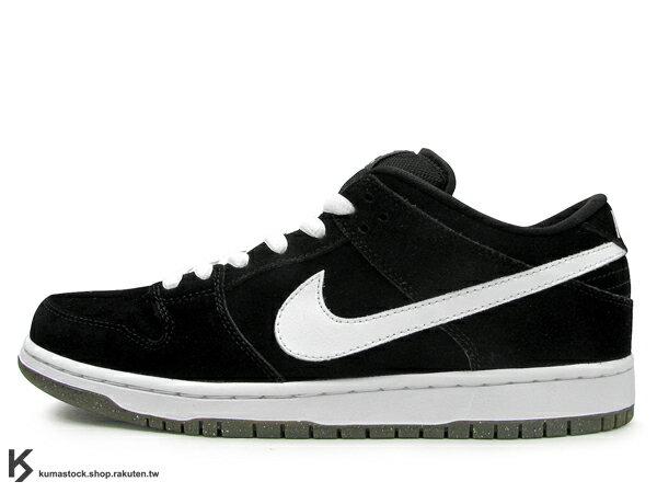超少量再入荷 2011發售 NIKE DUNK LOW PRO SB BLACK WHITE 全黑 黑白 白勾 厚鞋舌 麂皮 SUEDE (304292-016) !