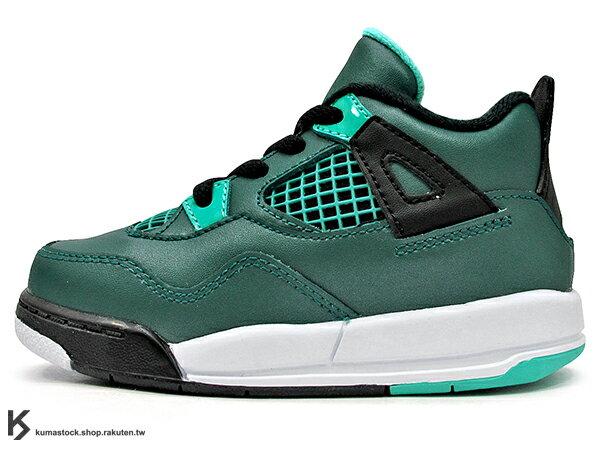 [15cm] 海外入荷 台灣未發售 2015 NIKE JORDAN 4 IV RETRO BT TD 30TH TEAL 幼童鞋 BABY 鞋 湖水綠 AJ 四代 皮革 AIR (308500-33..