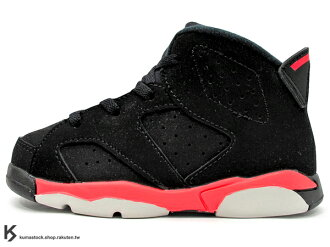 [16cm] 海外入荷 台灣未發售 2014 NIKE JORDAN 6 VI RETRO BT TD BLACK INFRARED 23 BRED 幼童鞋 BABY 鞋 黑紅 AJ 六代 AIR (..