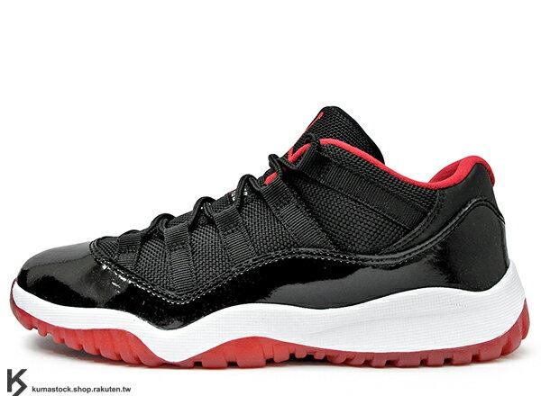 2015 詢問度極高 NIKE JORDAN 11 XI RETRO LOW BP PS BRED 小童鞋 童鞋 黑紅 亮皮 AJ 十一代 AIR (505835-012) !