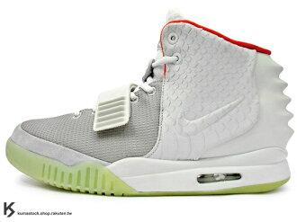 2012年 超限量發售 NSW 嘻哈歌手 Kanye West 設計 NIKE AIR YEEZY 2 NRG 二代 灰白 白鷹 椰子 夜光鞋底 GROW IN THE DARK 鱷魚紋路 (5082..