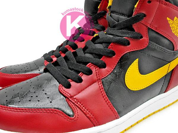 [20% OFF] 1985 年經典復刻款 九孔鞋洞 2013 鞋舌 NIKE LOGO 標籤 NIKE AIR JORDAN 1 RETRO HIGH OG HIGHLIGHT FILM 黑紅黃 亞特蘭大 老鷹 皮革 AJ (555088-017) ! 1