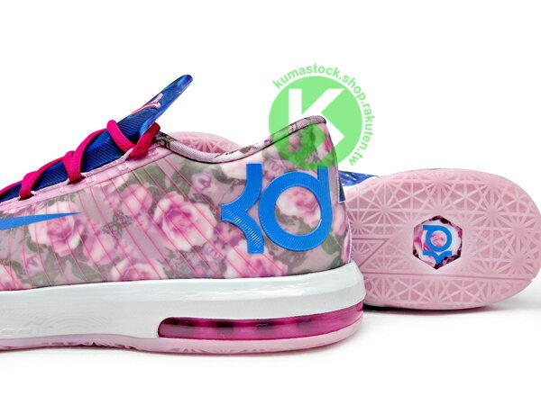 [28cm] 2014 NBA 得分王 最新代言鞋款 NIKE KD VI 6 SUPREME AUNT PEARL 乳癌 粉紅藍 花朵 珍珠 阿姨 HYPERFUSE 鞋面科技 ZOOM MAX A..