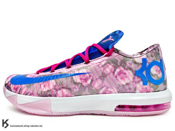 [28cm] 2014 NBA 得分王 最新代言鞋款 NIKE KD VI 6 SUPREME AUNT PEARL 乳癌 粉紅藍 花朵 珍珠 阿姨 HYPERFUSE 鞋面科技 ZOOM MAX AIR 氣墊 Kevin Durant 代言簽名鞋款 PLAY 4 KAY YOW THINK PINK (618216-600) !